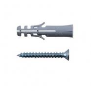 Дюбель с шурупом Хортъ 10х50/6х50 мм 4 шт